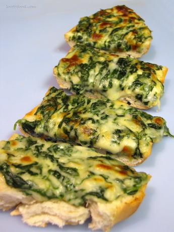 Weazelchef's Creamy Spinach Garlic Bread
