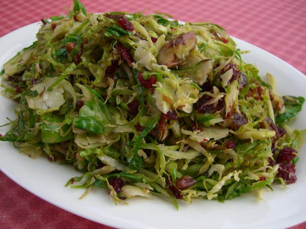 Alton Brown's Brussels Sprouts With Pecans and Cranberries