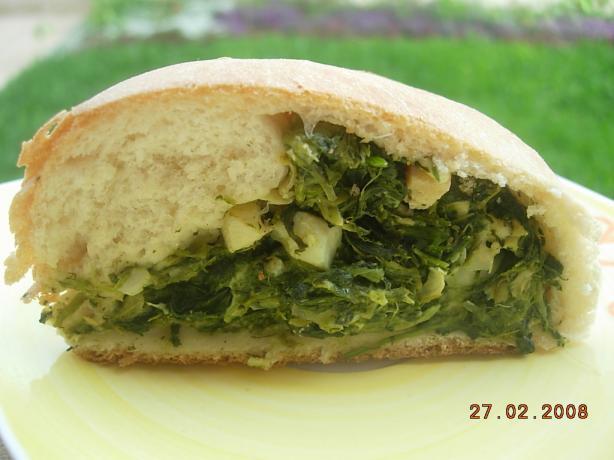 Spinach & Artichoke Stuffed Rolled Bread