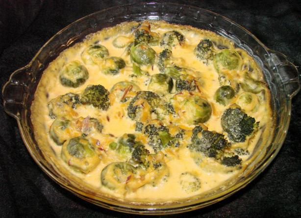 Smoked Gouda Brussels Sprouts Gratin