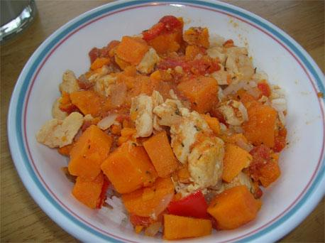 Chicken and Sweet Potato Caribbean Stew