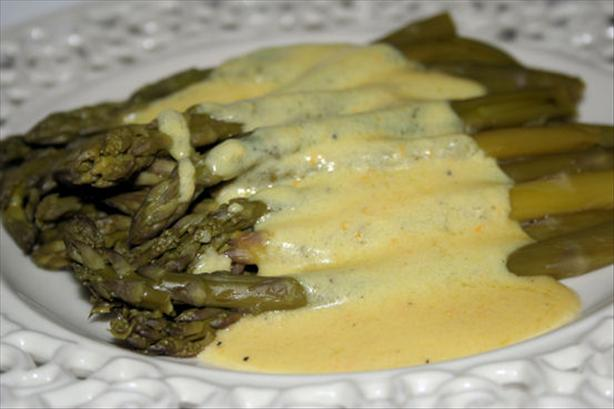 Asparagus in Creamy Orange Maltaise Butter Sauce