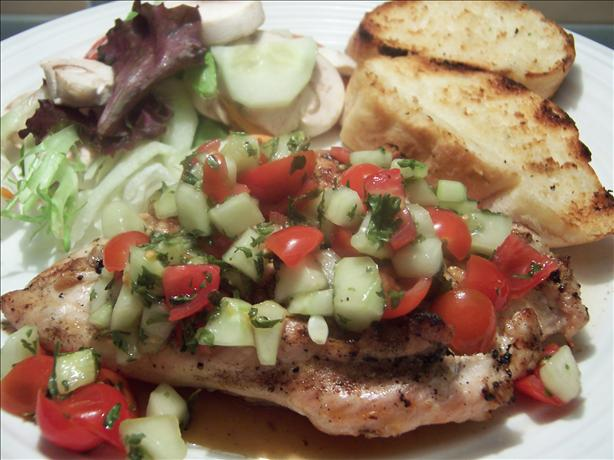 Chicken With Tomato - Cucumber Salsa