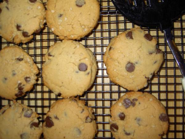 Chocolate Chip Peanut Butter Oat Cookies