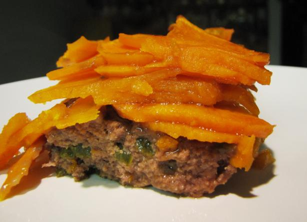 Scalloped Sweet Potatoes With Ground Beef