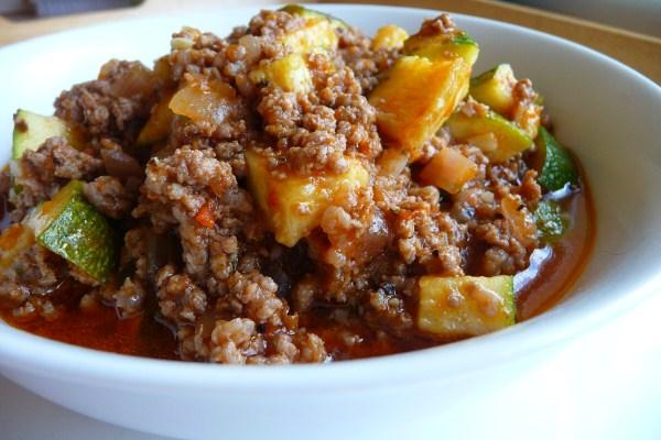 Zucchini and Ground Beef Casserole