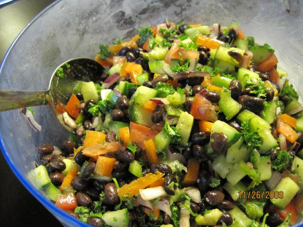 Middle Eastern Style Black Bean Salad