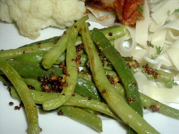 Green Beans With Whole Grain Mustard