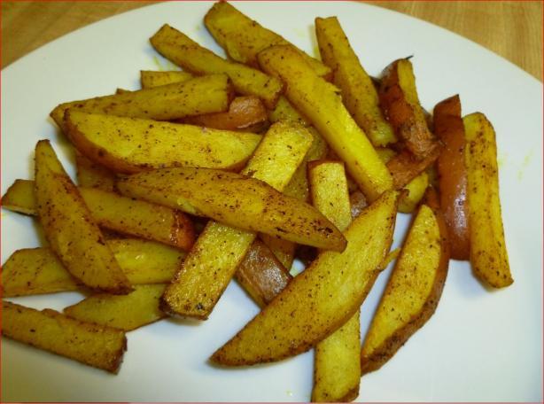 Indian Spiced Baked Potato Sticks