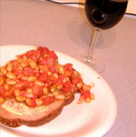 Posh Beans and Chorizo on Toast