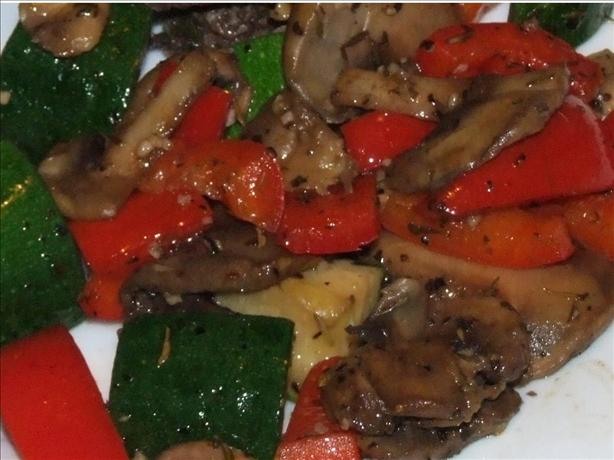 Grilled Herbed Mushroom Vegetable Medley