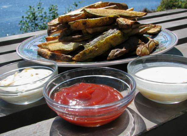 Baked Pommes Frites(Potatoes) and Kid-Friendly Dipping Sauces