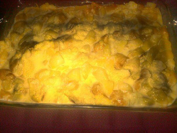 Peggy's Peach Bread Pudding
