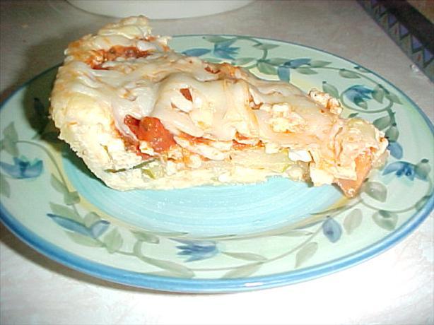 Italian Tomato Zucchini Quiche