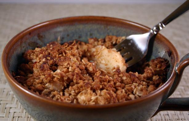 Apple or Pear Crisp for One