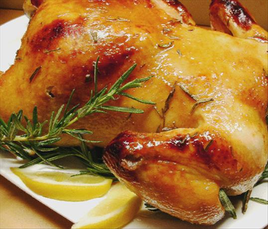 Roast Chicken With a Honey-Lemon Baste