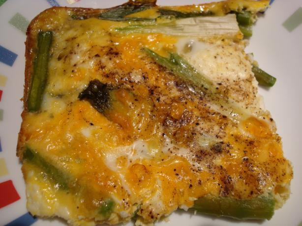 Scallion Asparagus Egg Bake