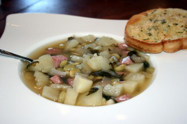 Easy Crock Pot Ham & Lima Bean Soup