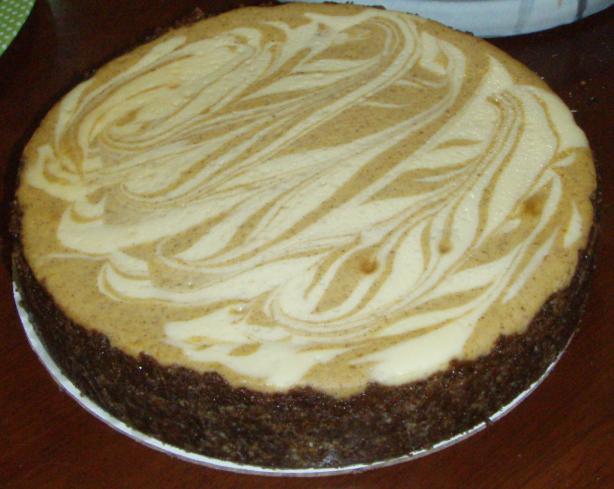 Philly Pumpkin Swirl Cheesecake