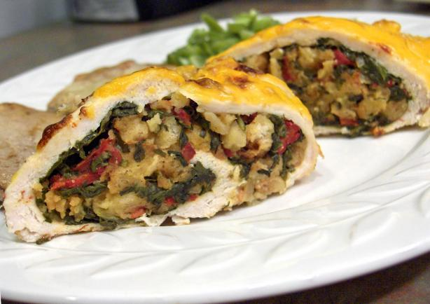 Spinach Stuffed Chicken Breasts for Two
