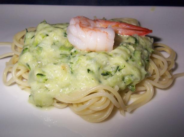 Zucchini and Shrimp Spaghetti