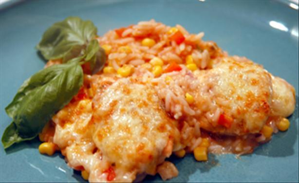 Spanish Chicken & Rice Bake