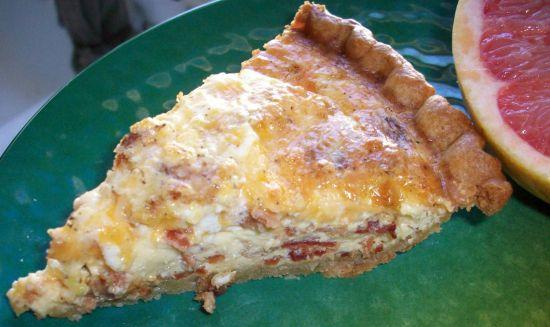 Easy Cheesy Bacon Quiche