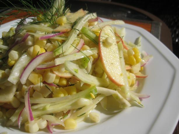 Fennel Salad With Apples and Fresh Corn