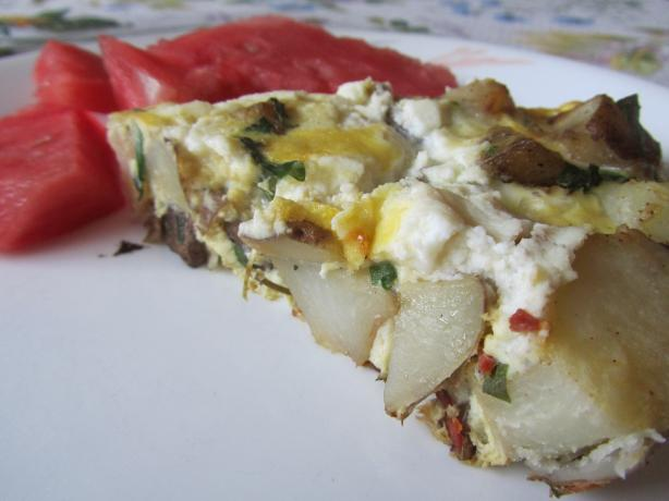 Rocket, Ricotta and Potato Frittata
