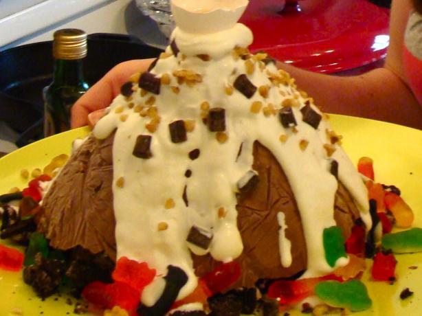 Michael's Fabulous Chocolate Mountain Ice Cream Cake