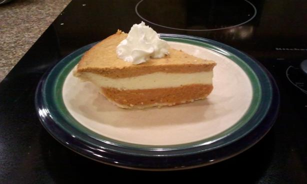 Farmhouse Triple-Layer Pumpkin Cheesecake Pie