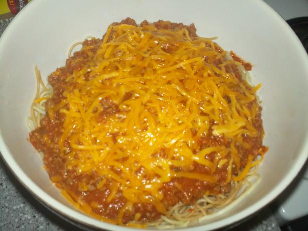 Bacon Cheeseburger Spaghetti