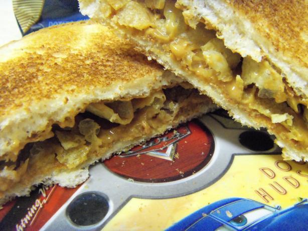 Peanut Butter and Potato Chips Sandwich