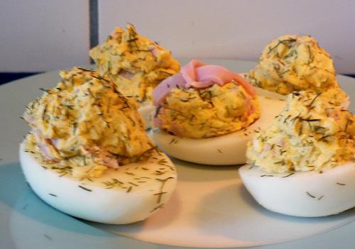 Norwegian Stuffed Hard Cooked Eggs