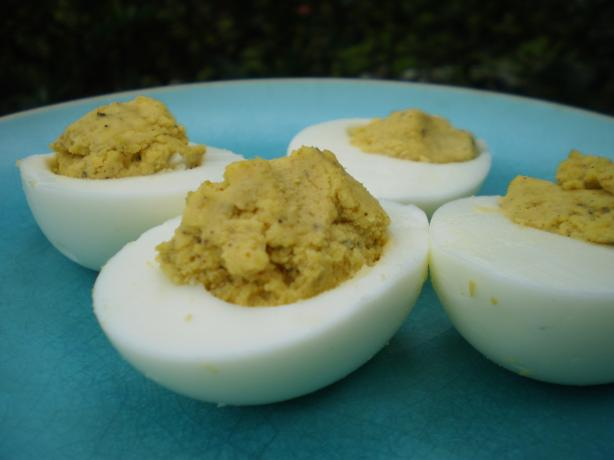 Curried Stuffed Eggs