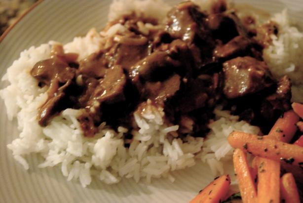Slow Cooker Burgundy Beef Tips