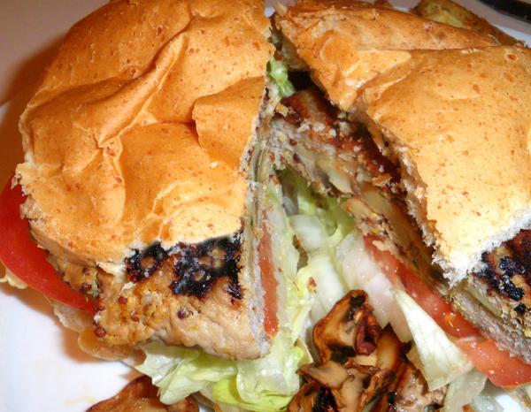 Mushroom Stuffed Grilled Pork Burgers