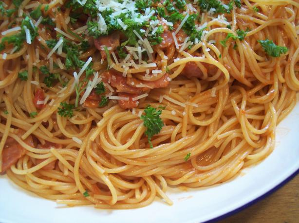 Bacon and Tomato Spaghetti