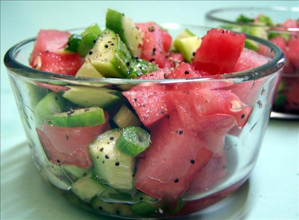 Sweet & Sour Watermelon Cucumber Salad