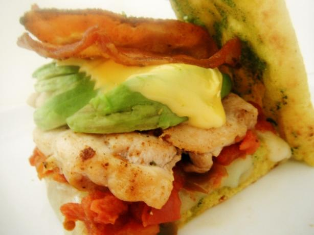 Curry Naan Grilled Chicken Sandwich