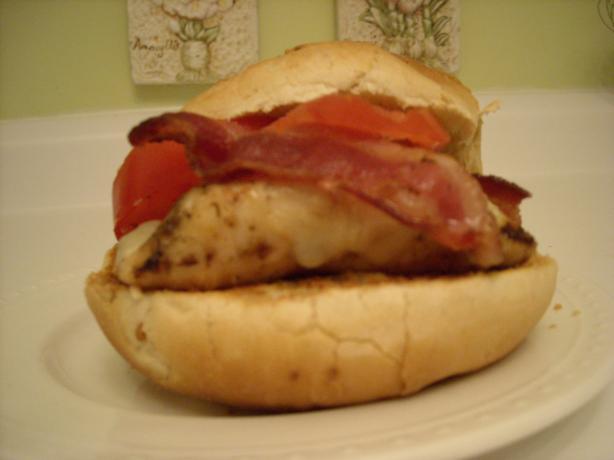 Grilled Bacon & Swiss Chicken Burger
