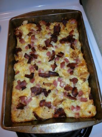 Ham, Egg and Cheese Breakfast Bake