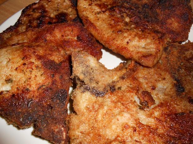 Kittencal's Italian Breaded Baked Parmesan Pork Chops