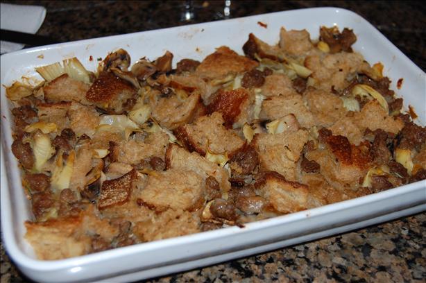 Artichoke-Sausage Stuffing / Dressing