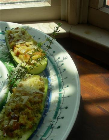 Simple Stuffed Zucchini or Squash