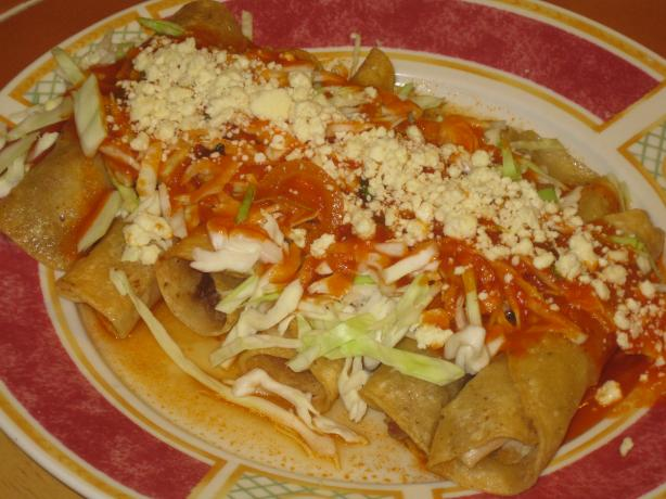 Flautas With Shredded Chicken