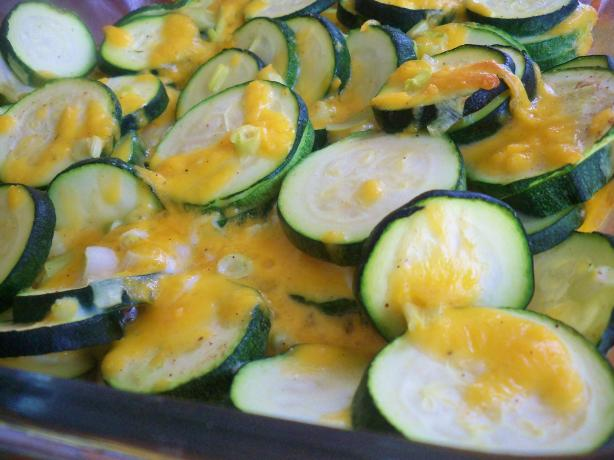Baked Zucchini With Cheddar Cheese