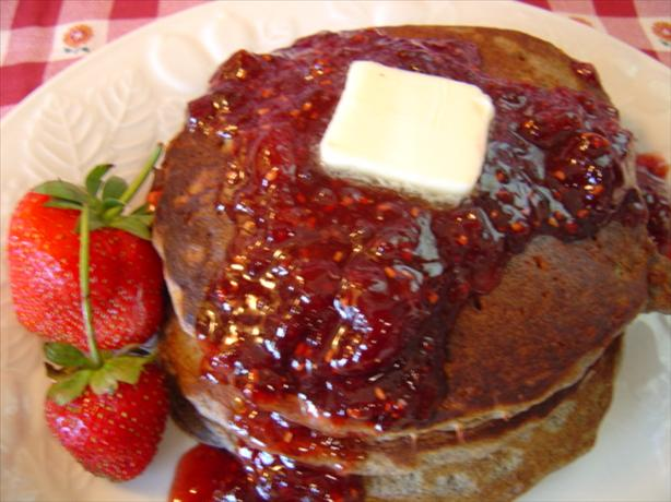 Buttermilk Buckwheat Pancakes With Summer Fruit Syrup