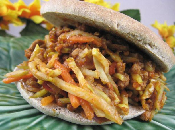 Sloppy Joe Turkey Slaw Sandwiches