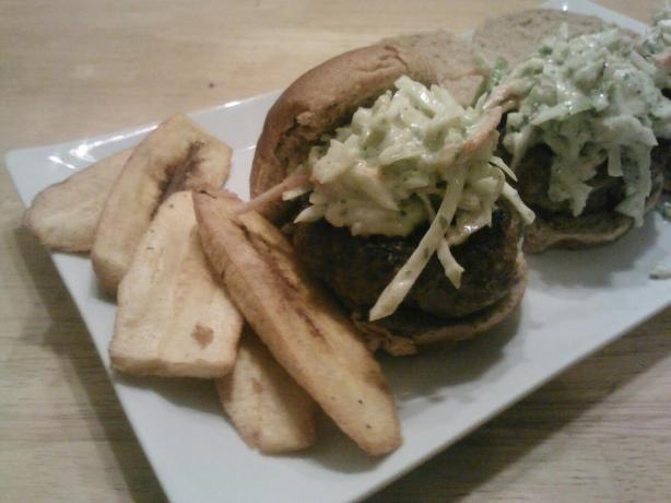 Boriqua Pork Burgers With Creamy Sofrito Ranch Slaw #RSC